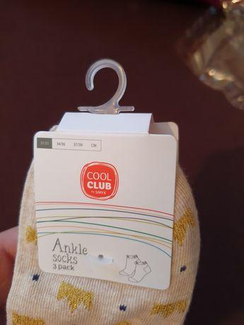 3pak skarpetki dziewczęce 31/33 Cool Club Smyk metka