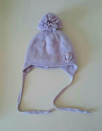 Шапочка теплая зимняя шапка для девочки Barbaras Польша ОГ 48-50 см