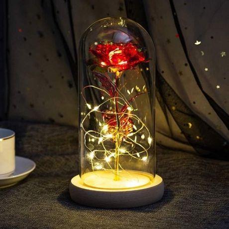 Róża Wieczna w Szkle, Czekolada Milka + Baterie Gratis