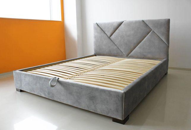 Двоспальне ліжко 200×160см, кровать велюр, мягкая кровать,ліжко модерн