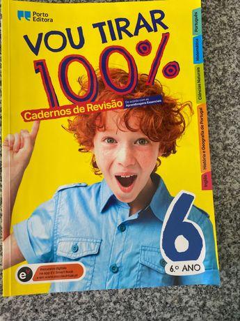 Vou tirar 100% Caderno revisão 6º livro