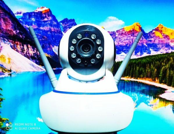 Беспроводная поворотная WIFI IP камера SMART  Q5 с датчиком движения