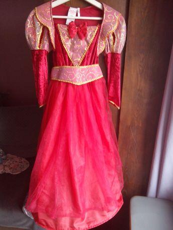 sukienka czerwona księżniczka 120/130