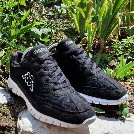 Каппа kappa кроссовки как новые чёрного цвета оригинал лёгкие
