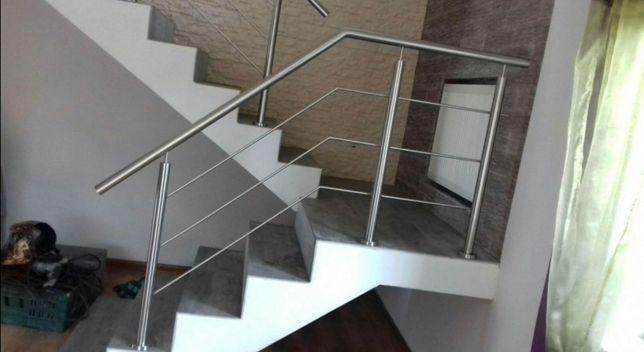 Balustrady barierki balkonowe schodowe poręcze balkony tarasy inox