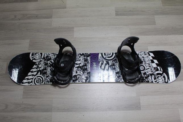 Deska Snowboard NITRO RIDER 132 cm + Wiązania OBSCURE