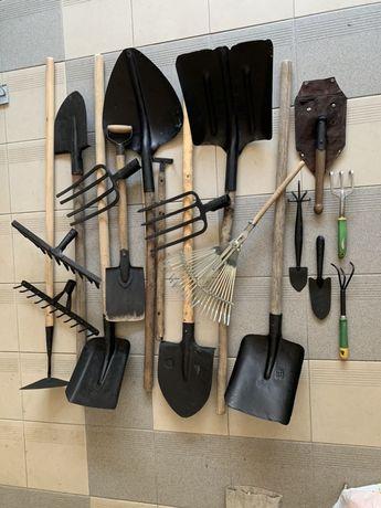 Лопаты, грабли, цапки
