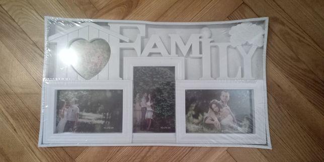 Фото рамка  коллаж новая family