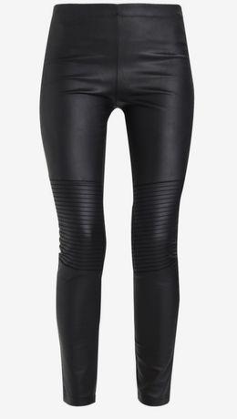 38 spodnie skórzane czarne nowe z metką