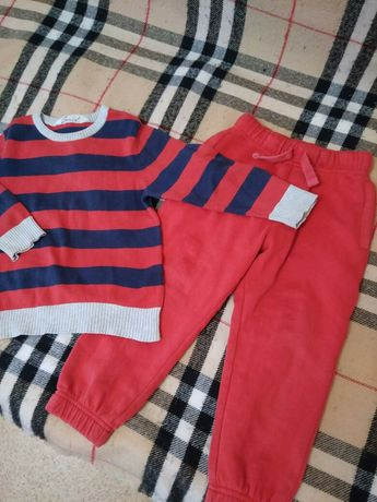 Набор штаны с начёсом и свитер на возраст 3-4 года