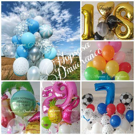 Balony z helem, napelnianie balonów, dekoracje, urodziny i przyjęcia.