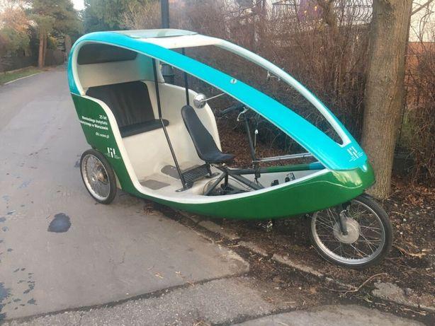 Niemiecka ryksza rowerowa Velocity Bayk oryginalna