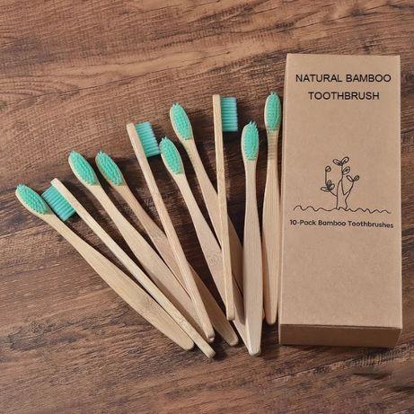 escova de dentes bambu cor verde - adulto
