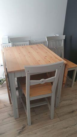 Stół rozkładany i 4 krzesła GAMLEBY Ikea