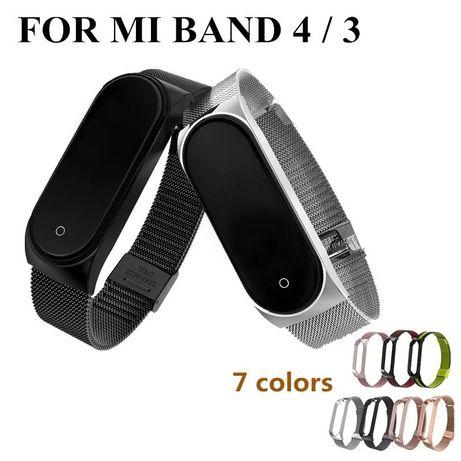 Ремешок MiJobs металлический для Mi Band 4/3