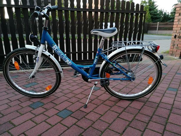 Niemiecki rower firmy bellini 24 całe Jak nowy 7 biegów