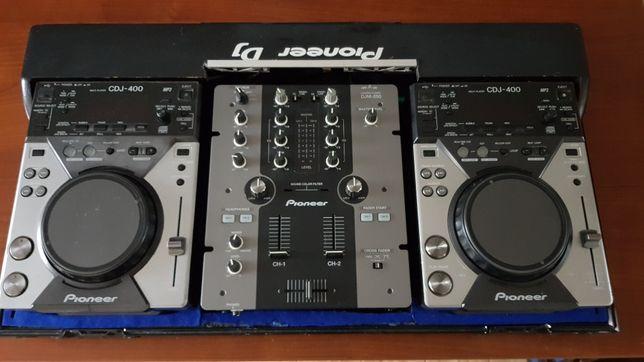 Konsola Pioneer 2x cdj400 djm250 case