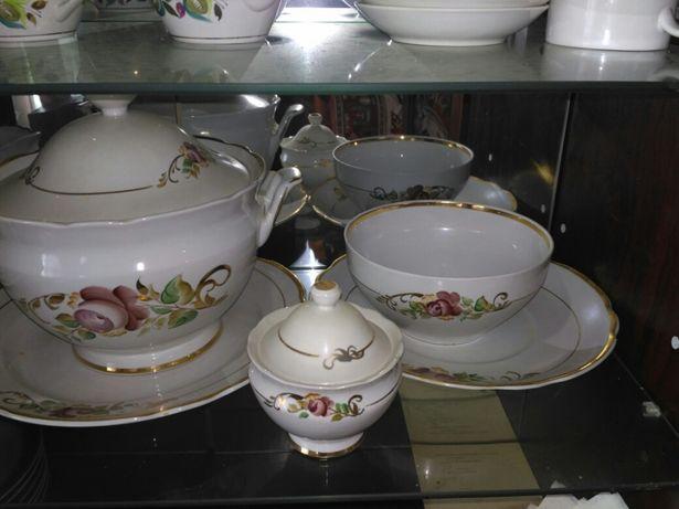 Большой столовый сервиз посуда ссср