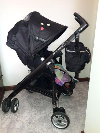 Carrinho de bebé, babycoque e base isofix