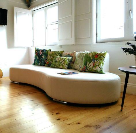 Sofa design branco 2,50 x 1,25