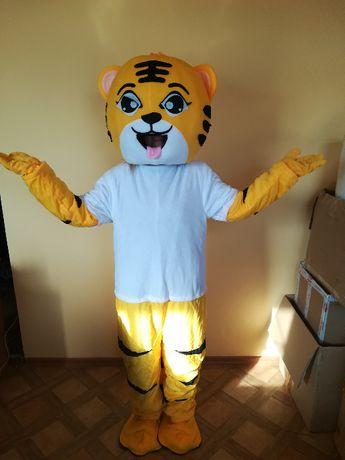 Żółty Tygrys strój Chodząca żywa duża maskotka Kostium reklamowy
