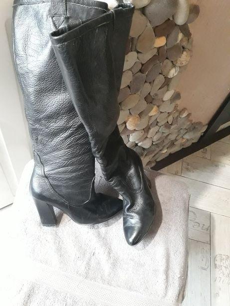 Кожаные осенние сапожки, 37 размер