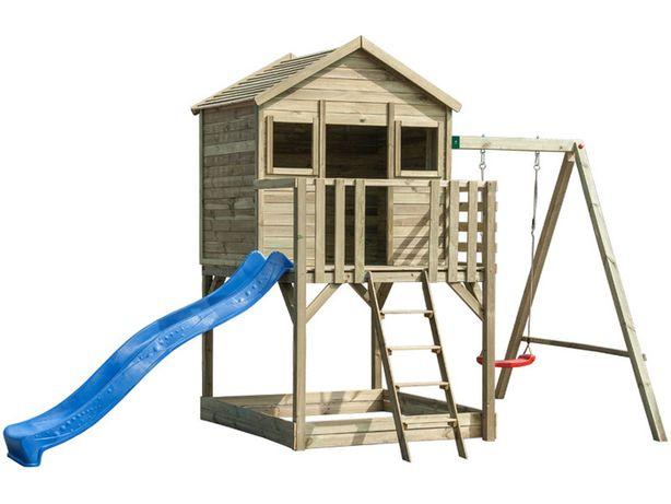 BIG BOB domek dla dzieci huśtawka zjeżdżalnia domek
