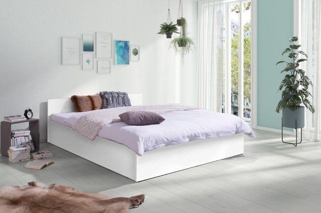 Sypialnia Nowe Łóżko LENA z Materacem 160X200 białe, szare, dąb