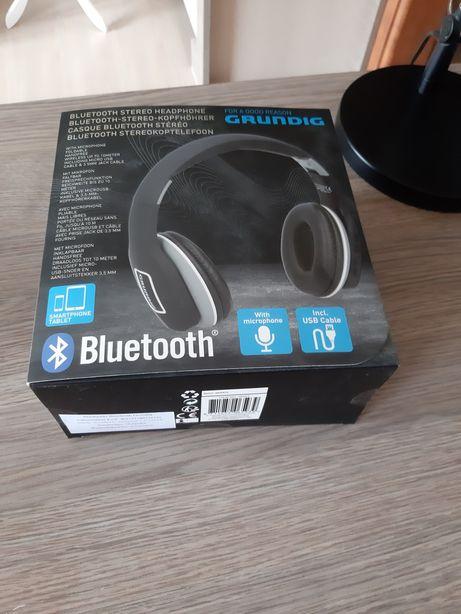 Grundig słuchawki bezprzewodowe stereo bluetooth ładowarka używ wada