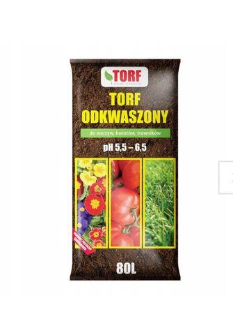 Torf odkwaszony ph 5,5-6,5 80 litrow
