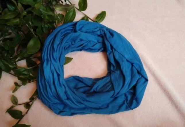 Komin damski kolor niebieski