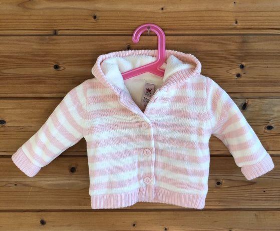 Кофта теплая вязаная baby club 62 H&M mothercare Zara