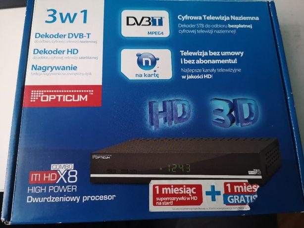 Dekoder Opticum ITI HD X8 Combo jak nowy dvbt