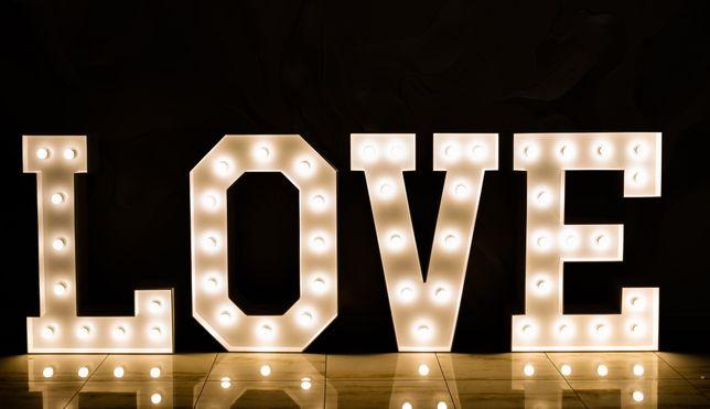 Podświetlany napis LOVE !