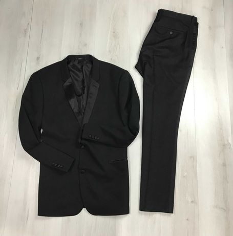 XL Костюм смокинг полосатый приталенный пиджак брюки Taylor & Wright