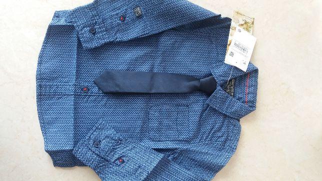Nowy zestaw koszula z krawatem starannie odszyty C&A 98