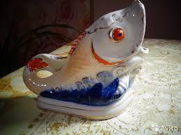 Раритет, СССР, Рыбы, Пепельница, Бутылка, Графин