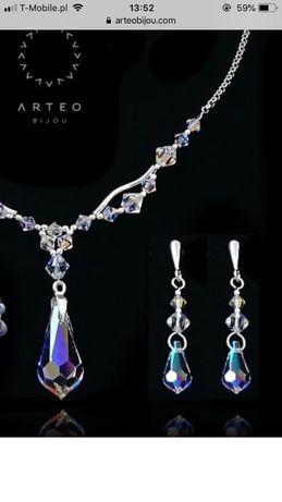 Komplet ślubny SWAROVSKI CRYSTAL AB biżuteria