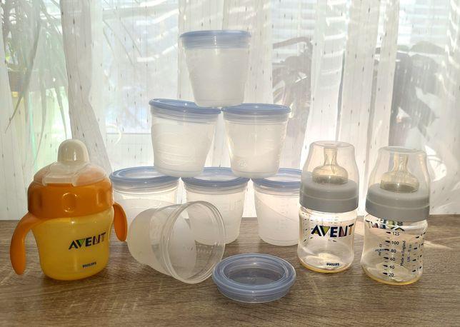 Контейнеры для хранения детского питания/молока AVENT