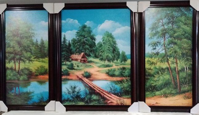 """Триптих ( три картины).    """"Природа"""""""