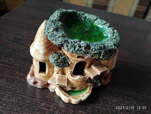 Декор для аквариума, замок, статуэтка, домик