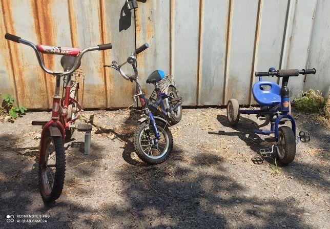 три детских велосипеда по символической цене