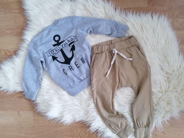 Komplet dzieciecy spodnie bluza 86