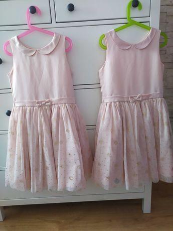 sukienka wizytowa dla bliźniaczek cool club 140 + gratis H&M