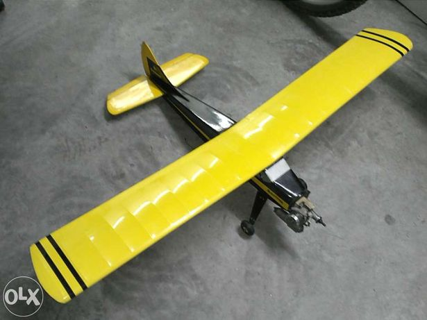 Aviao Graupner Beaver RC clássico 80cm c/ motor e electronica novos