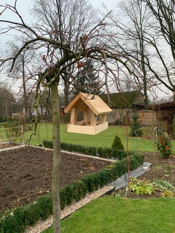 Karmnik dla ptaków lite drewno