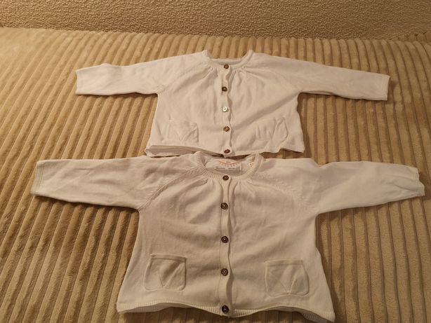 sweterki ZARA 6-9mcy /68-74 po bliźniaczkach