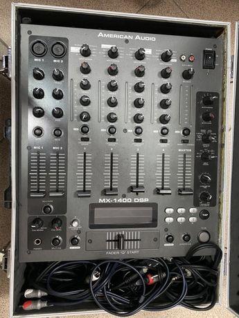 American Audio MX-1400 DSP odtwarzacz Numark NDX 500 z walizką