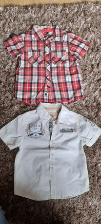 Koszule zara h&m 92-98 krótki rękaw