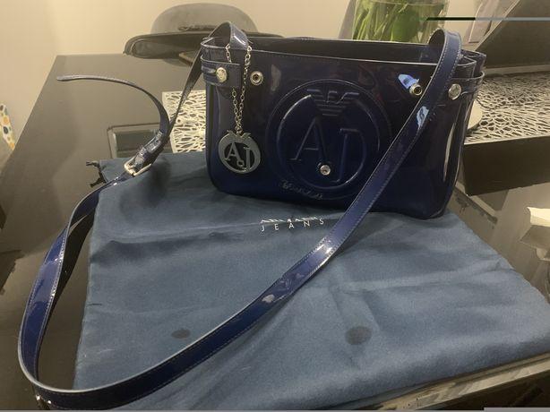 Armani Jeans granatowa torebka listonoszka